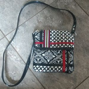 Vera Bradley crossbody fold over purse